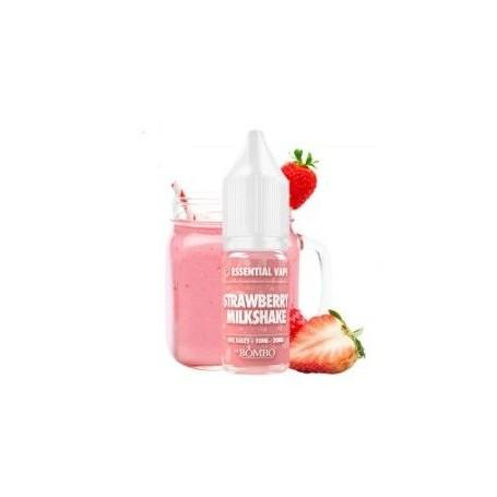 Strawberry Milkshake 10ml - Essential Salts by Bombo
