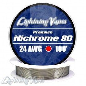 Nichrome 80 Cable resistencia 24GA - Lightning Vapes